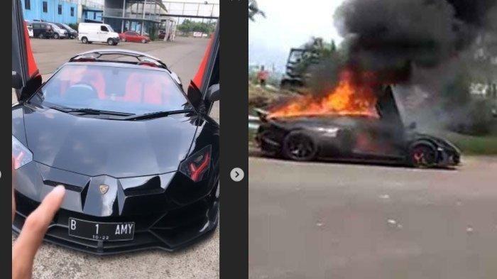 Beredar Video Detik-detik Mobil Lamborghini Raffi Ahmad Terbakar, Kronologi & Penjelasan Polisi