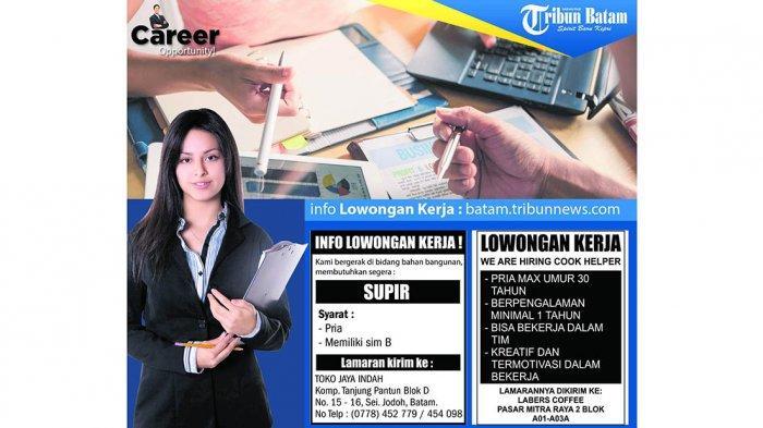 LOKER BATAM HARI INI - Dibuka Lowongan Kerja di Batam, Jumat (20/12), Apa Saja Posisinya?