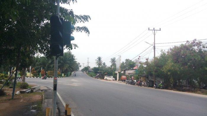 Traffic Light Simpang RSUD M Sani Hanya Jadi Pajangan, Bolong dan Tidak Berfungsi