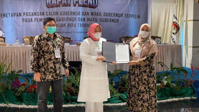 Ansar Ahmad-Marlin Agustina Resmi Jadi Gubernur dan Wagub Kepri Terpilih