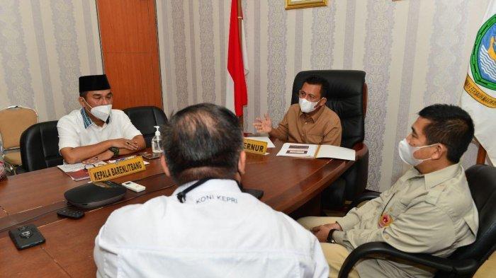 Persiapan PON 2021 di Papua, Gubernur Kepri Gelar Rakor dengan KONI, Ini yang Dibahas