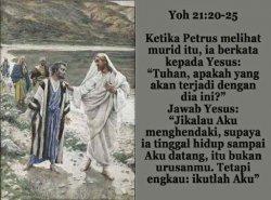ILUSTRASI - Dialog antara Yesus dan Petrus.