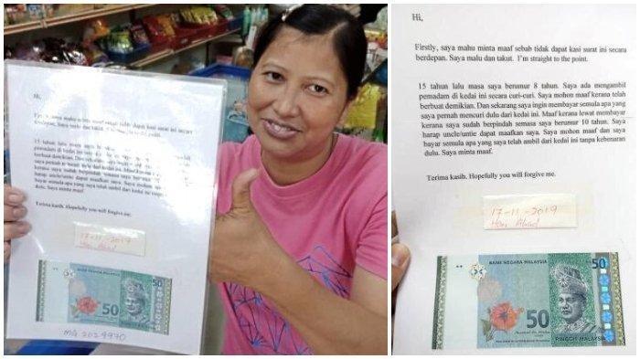 Bocah 8 Tahun Curi Penghapus di Toko, 15 Tahun Kemudian Ia Tulis Surat Permintaan Maaf Disertai Uang