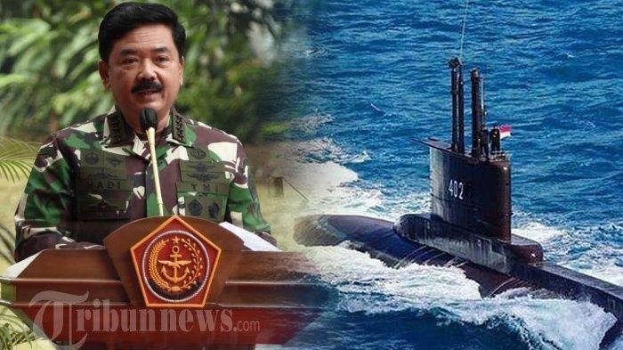 Nunduk hingga Suara Bergetar saat Panglima TNI Umumkan Kru KRI Nanggala-402 Gugur: Sedih Mendalam