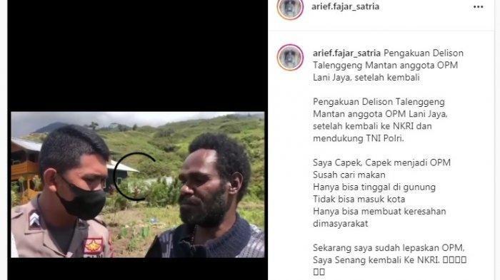 Dua Anggota KKB Papua yang Menyerahkan Diri ke TNI/Polri Bongkar Fakta Memilukan