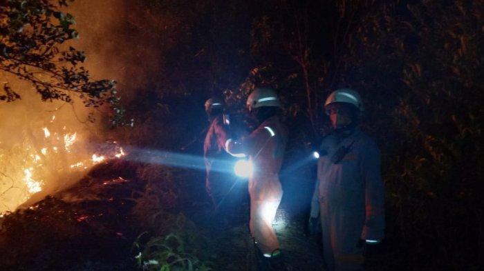 Karhutla di Bintan Belum Berakhir, 10 Hektare Lahan Terbakar Dekat Pertamina Tanjunguban