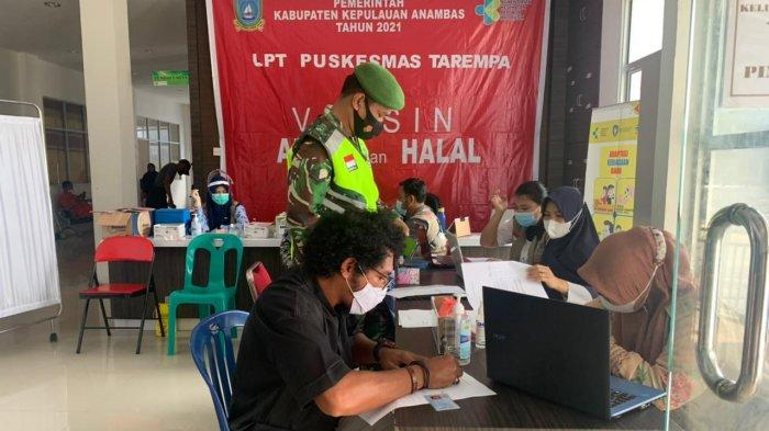 Pelaksanaan vaksinasi corona di Anambas tahap II, termin ke II di UPT RSUD Tarempa, Senin (22/3/2021)