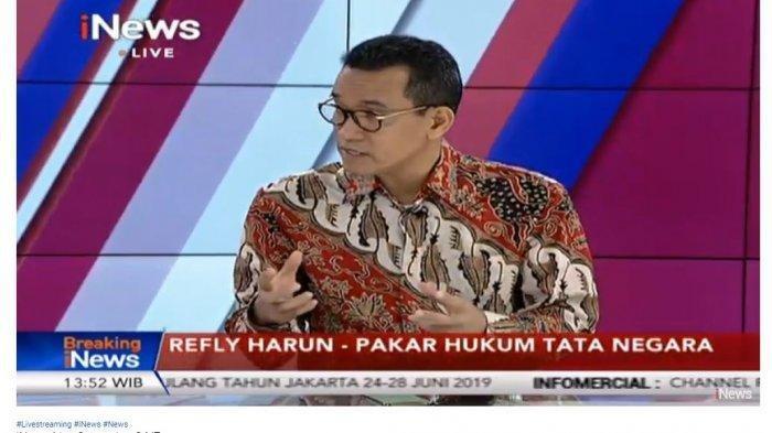 Refly Harun Sebut Bukan Berarti Tidak Ada Kecurangan Jika Dalil Kubu Prabowo-Sandi Tidak Terbukti