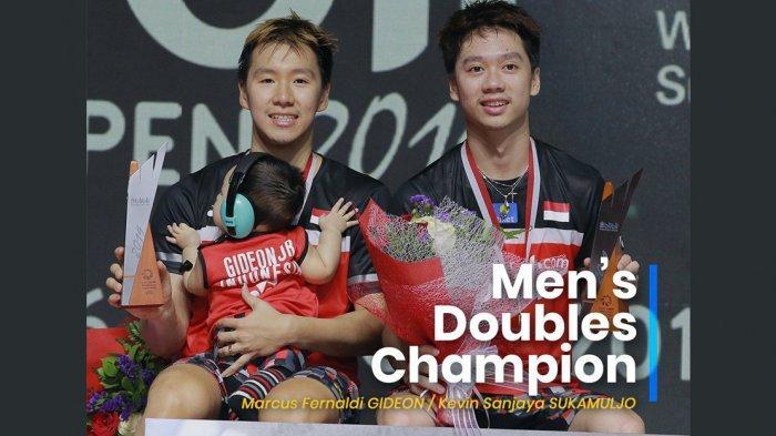 Marcus/ Kevin Kini Menjadi Ganda Putra Peringkat 1 Dunia Paling Lama di Dunia, Sudah 118 Pekan