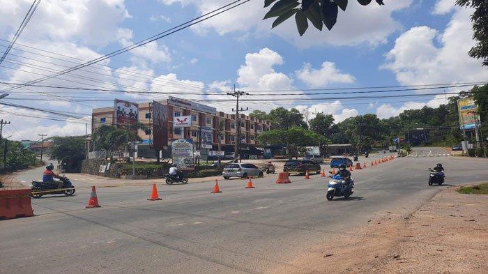 Warga Pilih Putar Balik, Ada Penutupan Jalan di Simpang Melayu Kota Piring Tanjungpinang