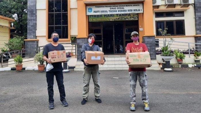 Tribunnews dan Kitabisa.com Gelar Aksi Cegah Corona, Donasikan Obat dan Suplemen ke Panti Sosial