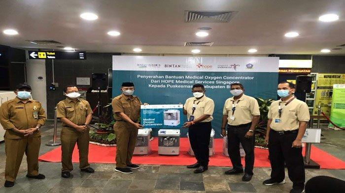 Singapura Bantu 16 Unit Oksigen Konsentrator untuk Bintan