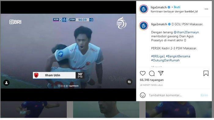 Pelatih PSM Makassar Puji Gol Ilham Udin, Saya Hanya Lihat di Liga Inggris & Liga Italia