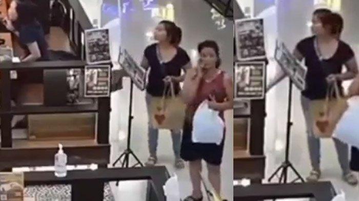 Viral Video Aksi 2 Wanita Mencuri di Mall Surabaya, Tingkah & Wajah Terekam, Penampilan Berkelas