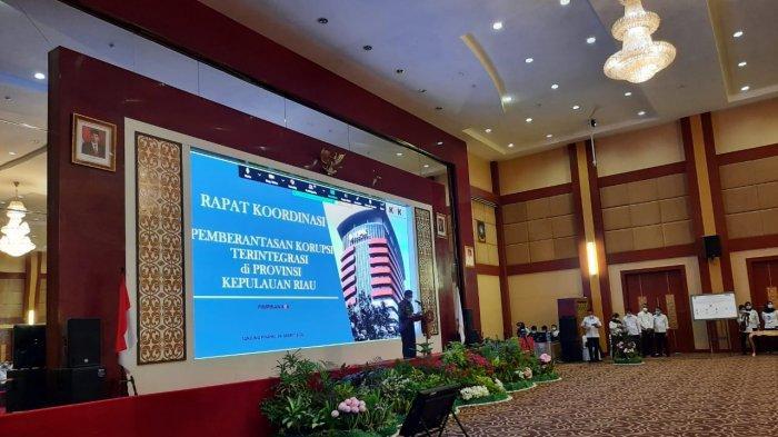 Pimpinan Komisi Pemberantasan Korupsi (KPK), Nawawi Pomolango hadir bersama tim di Kepulauan Riau (Kepri), Rabu (24/3/2021).