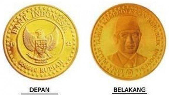 Uang Koin Termahal Bank Indonesia: Pecahan Rp 850 Ribu Gambar Soeharto dengan Bahan Emas