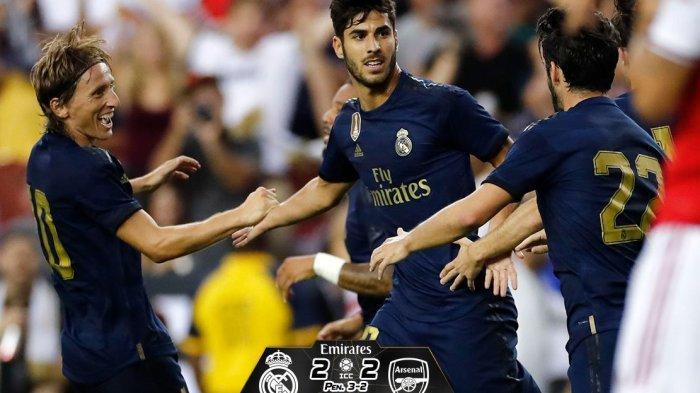 Hasil Real Madrid vs Arsenal, Laga Berakhir Seri 2-2, Real Madrid Menang 3-2 Lewat Adu Penalti