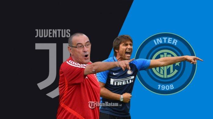 Live Streaming Juventus vs Inter Milan di ICC 2019, Live Mola TV 18.30 WIB, Laga Emosional Conte