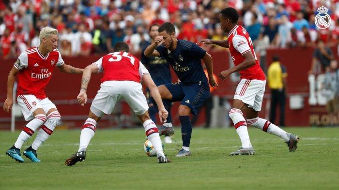 Hasil Real Madrid vs Arsenal, 2 Kartu Merah, Gareth Bale Cetak Gol, Real Madrid Imbangi Arsenal 2-2