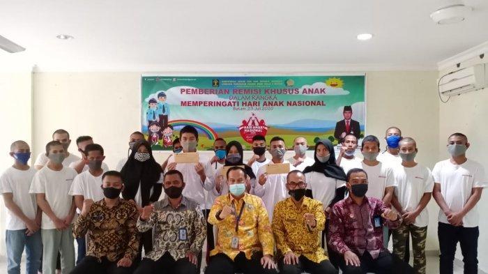 23 Anak di LPKA Kelas II A Batam Terima Remisi Khusus Idul Fitri