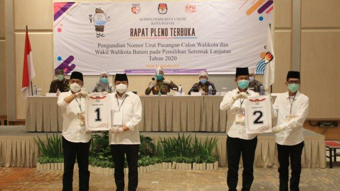 PILKADA BATAM - Pasangan calon Walikota dan Wakil Walikota Batam, Lukita Dinarsyah Tuwo dan Abdul Basyid nomor urut 1, sedangkan Rudi-Amsakar Achmad nomor urut 2 dalam kontestasi Pilkada Batam 2020.