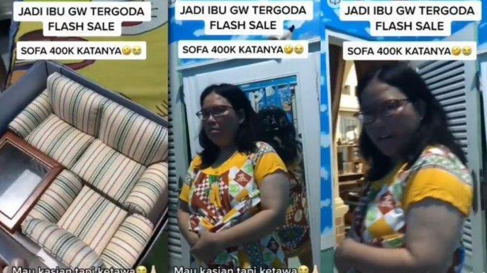 VIRAL Ibu-ibu Beli Sofa karena Tergiur Harga Murah Flash Sale, Endingnya sang Anak Syok