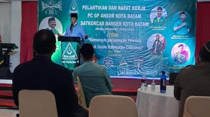 Pengurus Ansor Batam Dilantik, Rudi Ajak Ikut Bangun Batam