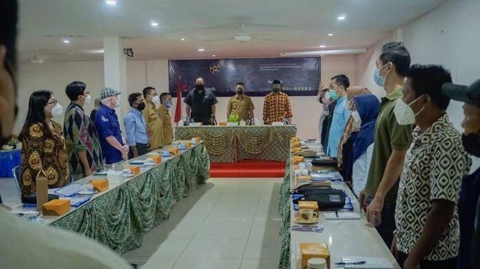 Kunjungan Dinas Pariwisata (Dispar) Provinsi Kepri di Kabupaten Lingga bertempat di Hotel Prima Inn, Dabo Singkep, Selasa (24/8/2021)