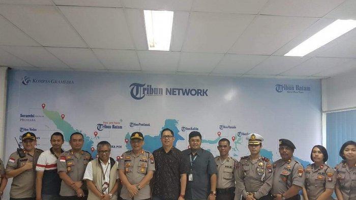 Kapolresta Barelang AKBP Purwadi Wahyu Anggoro Kunjungi Kantor Tribun Batam, Sempat Bahas Bimbar