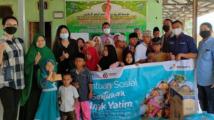 Peringati HUT ke-24, PT Pertamina Patra Niaga Region I Sumatra Santun Panti Asuhan