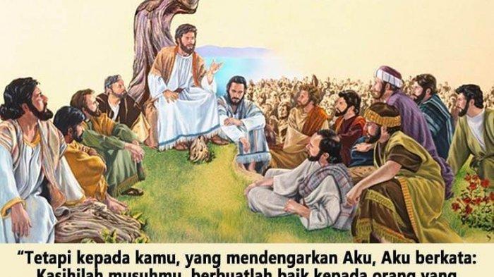 ILUSTRASI - Yesus sedang mengajarkan bagaimana mengasihi musuh seperti kita mengasihi diri sendiri.