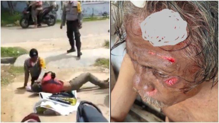Video Viral 2 Polisi di Aceh Baku Hantam dengan Orang Gangguan Jiwa, Kapolres Singgung Kode Etik