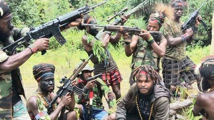 ilustrasi KKB Papua saat berada di markasnya di Intan Jaya