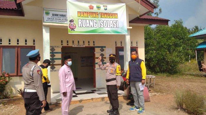 Kapolsek Singkep Barat Resmikan Desa Kuala Raya Lingga Sebagai Kampung Tangguh