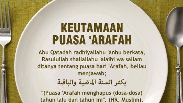 Niat Puasa Arafah yang Dilakukan pada 9 Dzulhijjah, Jelang Masuknya Idul Adha