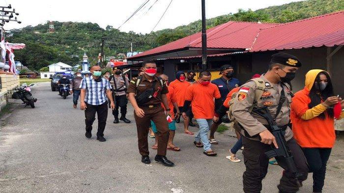 Delapan Tahanan Kejari Natuna di Tarempa Dipindahkan ke Rutan dan Lapas Tanjungpinang