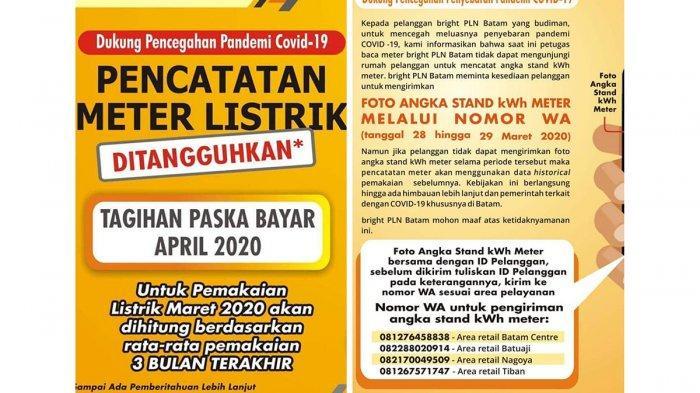 Pln Persero Siap Gratiskan Dan Diskon Tagihan Listrik Bagaimana Dengan Di Batam Tribun Batam