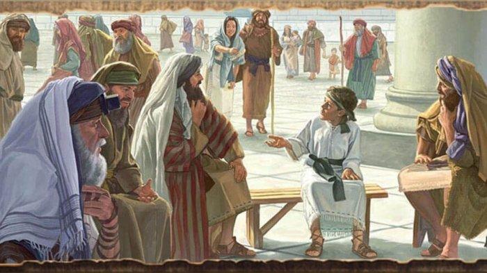 ILUSTRASI - Yesus kecil sudah berada di Bait Allah.