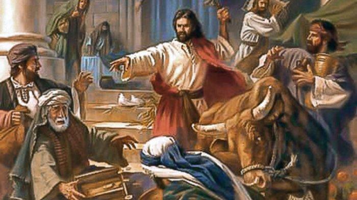 ILUSTRASI - Yesus marah di Bait Allah.