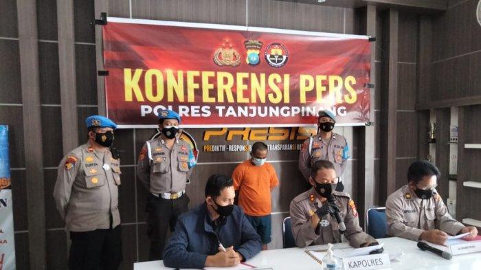 Polres Tanjungpinang menggelar konferensi pers kasus tindak pidana pencurian di Mapolres Tanjungpinang, Sabtu (29/5/2021)