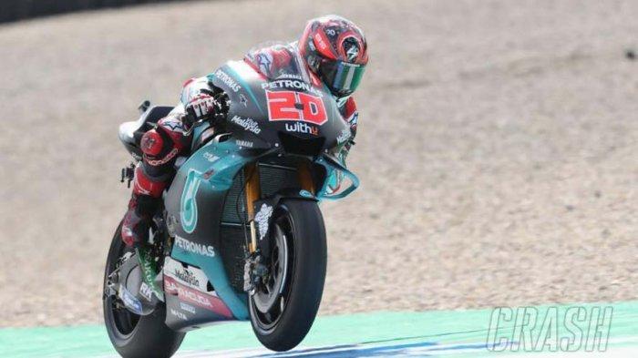 Hasil FP3 MotoGP Belanda 2019 - Fabio Quartararo Pecahkan Rekor Lap, Rossi Berjuang dari Q1 Lagi