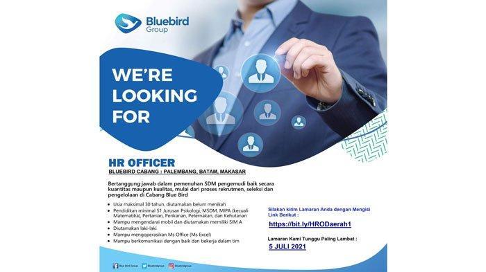 Lowongan Kerja - Bluebird Group Buka Lowongan HR Officer Lulusan S1 di Batam
