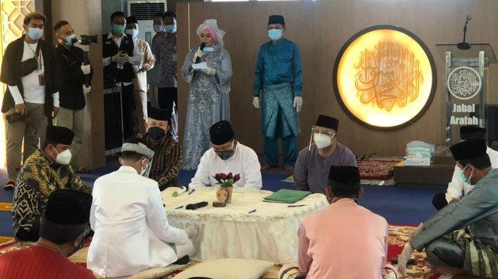 Disaksikan Pjs Gubernur Kepri, Buralimar Nikahkan Anaknya Sesuai Protokol Kesehatan Covid-19