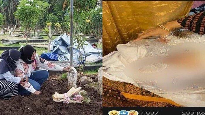 Erlita Dewi Wanita yang Suaminya Direbut Pelakor Alami Kepedihan, Makam Putrinya Dibongkar