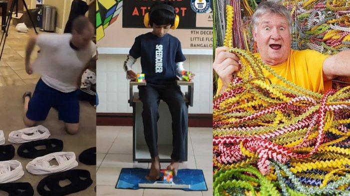 10 Rekor Dunia yang Tak Biasa: Pakai Kaos Terbanyak Hingga Tali dari Bungkus Permen Terpanjang