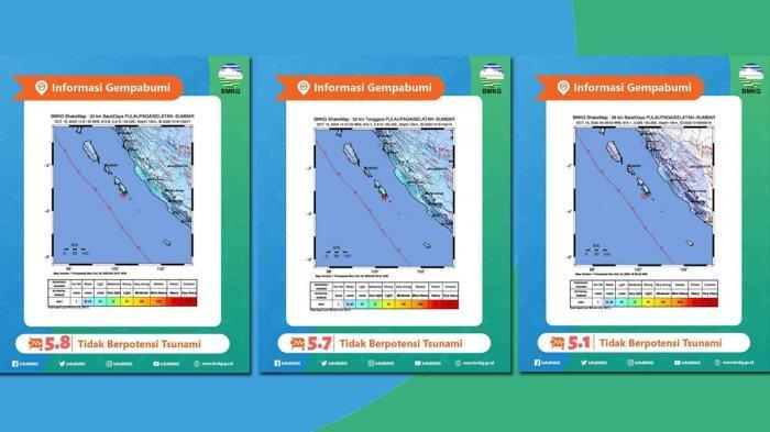 GEMPA HARI INI 2020, Pagai Selatan 3 Kali Diguncang Gempa Berskala 5 Senin (19/10), Simak Info BMKG