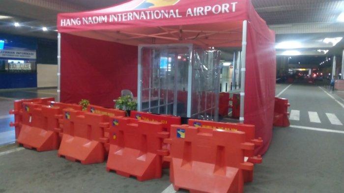 MULAI Hari Ini Selasa (31/3) Bandara Hang Nadim Batam Hentikan Bilik Penyemprotan Disinfektan