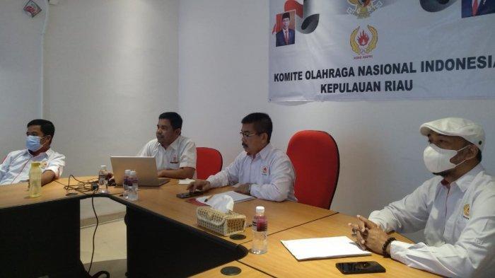 Jelang PON XX Papua, KONI Kepri dan Dispora Bahas Pengamanan Atlet Bersama Polda Kepri