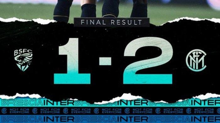 Hasil Brescia vs Inter Milan - Nerazzurri Menang Berkat Dua Gol dari Duet Maut Martinez - Lukaku
