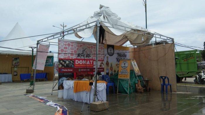Hujan Deras dan Angin Kencang Porakporandakan Tenda Bazar MTQ Tanjungpinang 2021